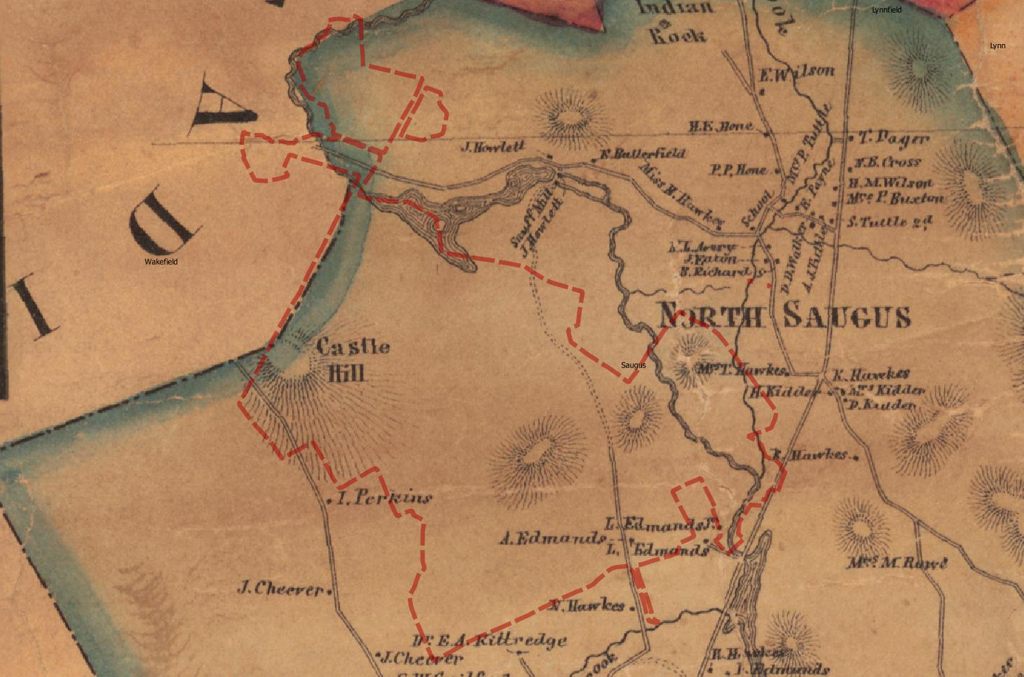 Breakheart 1856 Map