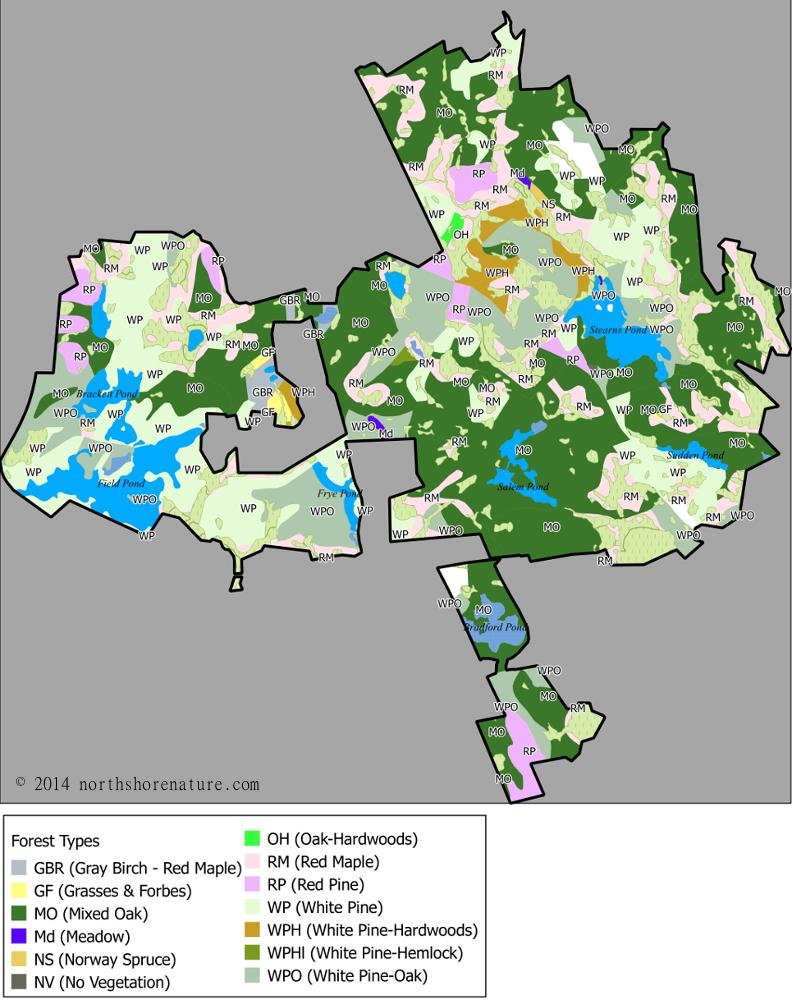 Harold Parker State Forest Map Harold Parker State Forest